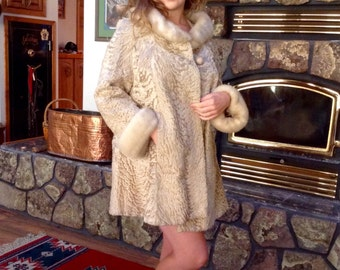 Reserved for Olga/ Super glam Oleg Cassini Persian lamb and mink jacket/wedding/holiday/party