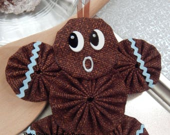 Gingerbread Yo Yo  Ornament - Gingerbread Cookie GB43