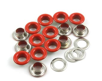 Size: 11.5*6*5mm (OD * ID * Height) Red Round Eyelet Grommet (RED-RG11)