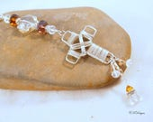 Cross Rear View Mirror Charm, Crystal Car Mirror Charm, Crystal Suncatcher, Cross Suncatcher, Gift for Her, CKDesigns.US