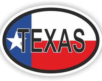 Texas USA Country Code Oval Sticker with Flag for Bumper Laptop Book Fridge Helmet ToolBox Door PC Hard Hat Tool Box Locker Truck