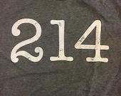 214 Area Code Tee - Unise...
