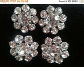 Now On Sale Wedding Accessories Flower Rhinestone Buttons ** Bridal Bouquet Crystal Buttons