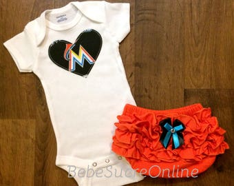 Miami Marlins Girls Outfit