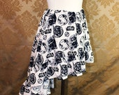 HALF OFF SALE High Low Mini Cecilia Skirt -- Star Wars Black/White Boba Fett, Stormtrooper, and Darth Vader -- Ready to Ship -- Fits Up To 3