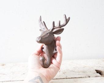 Simple Metal Brown Deer Hook Antler Hook Towel Hook