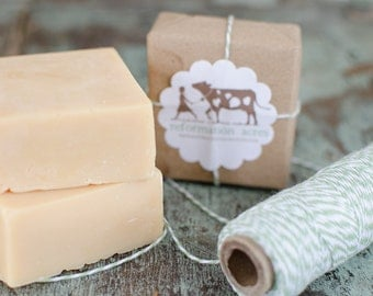 Fresh & Clean Lard Soap {All-Natural, Jersey Milk Soap, Lard Soap, Cold Process Soap, Farmstead Soap, Handcrafted}
