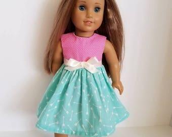 18 Inch Doll-American Girl Dress: Arrow Toss