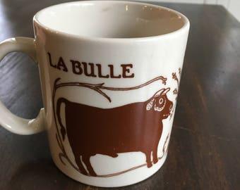 Vintage cow bull mug 1978 Taylor and Ng La Bulle La Vache