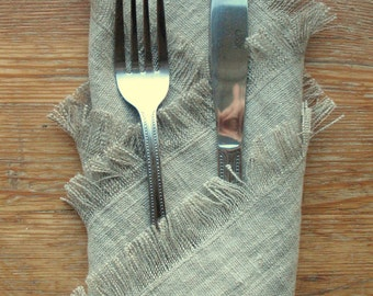 Natural Linen Napkin Dinner Napkins Easter Table Napkins Set of 6 Serviette Gray Napkins Wedding Napkins Washed Linen Burlap Napkins