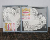 Vintage Paper Lace Doilies Heart Shaped by Roylies USA