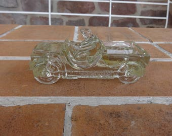 vintage candy container Willy's jeep Millstone Jeanette Pa glass 1930-40's kitsch