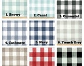 Buffalo Check Curtains Custom Color Choice  Rod Pocket  63 72 84 90 96 108 or 120 Long x 24 or 50 Wide