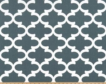 Dark Gray White Lattice Fynn Curtains  Rod Pocket  63 72 84 90 96 108 or 120 Long x 24 or 50 Wide