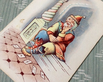"Vintage Soviet Russian small collectible playing card ""Joker"""