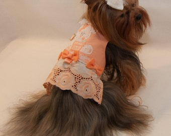 Made for Maddie Peach Eyelet Bunny Vest