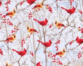Timless treasures red bird fabric