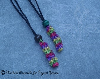 Interchangeable Macrame Tumbled Stone Necklace (INN0005)