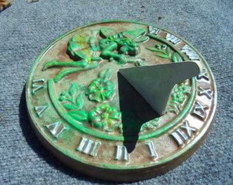 Stone Sun Dial, Handmade, Shipping Included