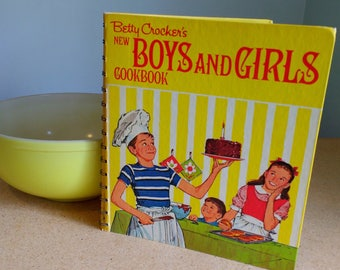 Vintage Classic Betty Crocker's New Boys and Girls Cookbook 1973 Kids Recipes Cooking With Kids