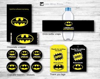 Batman invitation, batman party printables, superhero invitation, superhero party, batman birthday party, batman invite, batman birthday