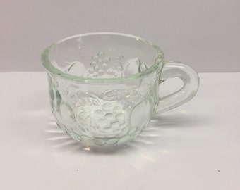 Jeannette Glass Fruit Pattern Punch Bowl Cup