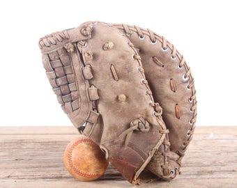 Old Leather Baseball Glove / Vintage Rawlings Boog Powell FJ12 Baseball Glove / Leather Baseball Glove / Antique Baseball Glove / Old Glove