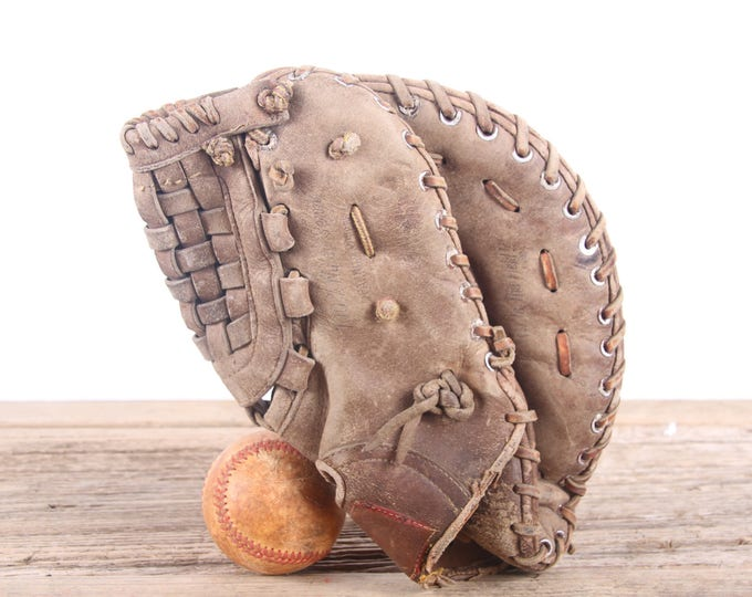 Old Leather Baseball Glove / Vintage Rawlings Boog Powell FJ12 Baseball Glove / Leather Baseball Glove / Antique Baseball Glove / Old Glove