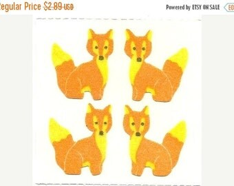 ON SALE Rare Vintage Great Seven Fuzzy Foxes Stickers - 80's Fox