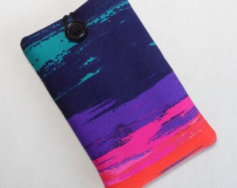 Stock Clearance. Handmade Phone case. Brightly coloured polycotton.