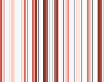 Red Stripes from Riley Blake's By The Sea Collection by My Mind's Eye