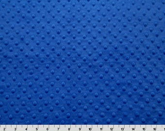 "END OF BOLT - 32"" X 60"" - Electric Blue Dimple Minky From Shannon Fabrics"