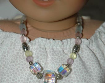 Doll, necklace, american, made, girl, jewelry, accessories, 18 inch doll, glass bead, 18