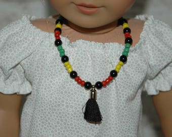 Doll, necklace, american, made, girl, doll jewelry, accessories, 18 inch doll, beads, 10