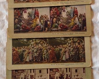 Antique Stereoscope Slides Life of Jesus Nativity Through Resurrection Set of 24