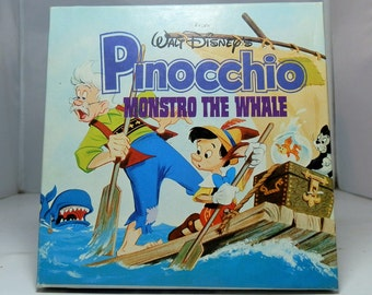 Super 8mm Walt Disney's Pinocchio Monstro the Whale Unusual Cover Art Collectible Movie Reel Film DanPickedMinerals