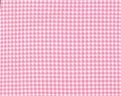 SHOP CLOSING SALE Michael Miller fabric by the yard Tiny Gingham in Pink 1 Yard
