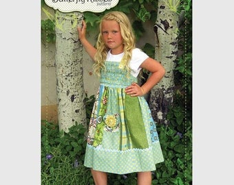 ON SALE Sunny Dress Pattern Butterfly Kisses for Riley Blake FREE Shipping with another item