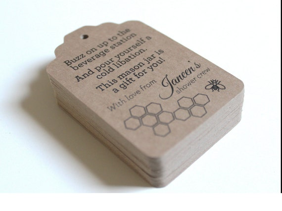Wedding Favor Honey Tags : Wedding Favor Tags Bridal Shower Favor Tags Honey Bee or Theme of Your ...