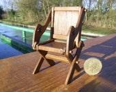 1/12th scale miniature medieval/tudor Glastonbury Chair