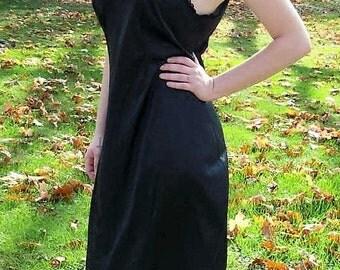 Vintage 1960s Ladies Black Slip by Sears Size 38 Only 10 USD