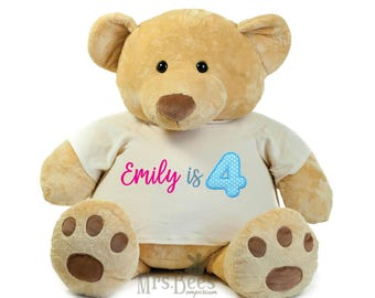 Giant Personalized Teddy, Massive cuddly toy, Supersize Teddy Bear, Giant Teddy,  Any Message, class teddy, marriage proposal, birthday gift