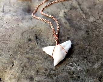 Dainty Shark Tooth Necklace, Shark Tooth, Sharks Tooth Necklace, Rose Gold Necklace, Dainty Rose Gold Necklace Dainty Rose Gold Gift for her