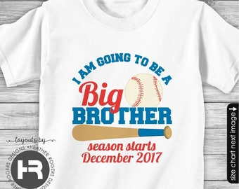 Baseball Big Brother Shirt -  I'm Going To Be A Big Brother Shirt - Pregnancy Announcement Shirt