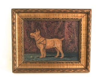 Antique Dog Painting
