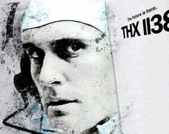 THX 1138 Poster George Lucas directs Robert Duvall Fan Art Poster, Poster or Framed Print