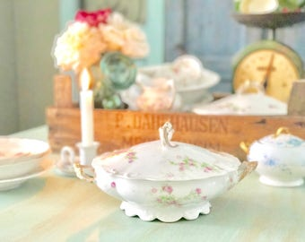 Limoges Dishes Vintage French Serving Bowl French Casserole Server