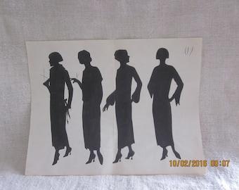 Downton Abbey 1920'sOriginal Hand Drawn Fashion Illustrations, Original Fashion Art, Fashion History,DowntonAbbey Fashion, Flapper fashion