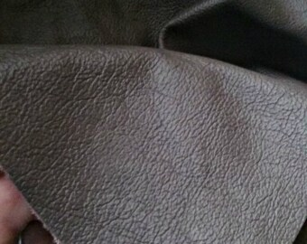 Dark Gray Cow Hide Leather 2-3 Oz - Large Leather Remnant - Leather Hide -