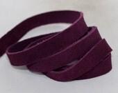 10mm  Purple Suede Leather Strap, 1 Yard